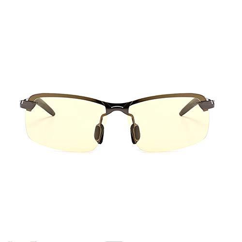 De Irrompible para Ultraligero Gafas UV400 Black Sol 100 Metal Y Marco con Yellow Aili Deportivas Hombre De Polarizadas OX5pwFFqx