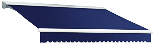 Awntech 8-Feet Destin LX with Hood Manual Retractable Acrylic Awning, 84-Inch Projection, Navy ()