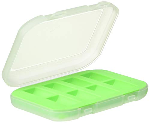Malamute Rugged CR2 Battery Storage Case - Holds 8, Traction Feet, Made in The USA (Green)