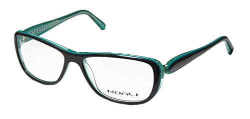 Koali 7184k Womens/Ladies Designer Full-rim Eyeglasses/Eyeglass Frame (53-14-130, Deep Turqouise / Teal)