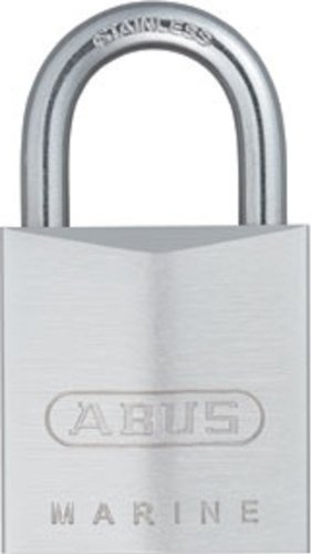 ABUS 75/30 All Weather Chrome Plated Brass Padlock Keyed Different - Stainless Steel Shackle (Chrome Steel Padlocks)
