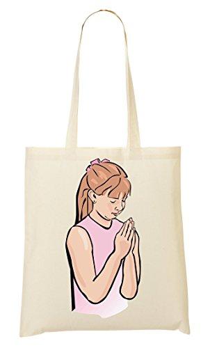 Praying Shopping Girl Handbag Praying Praying Girl Bag Handbag Shopping Bag Girl rgqZwrf