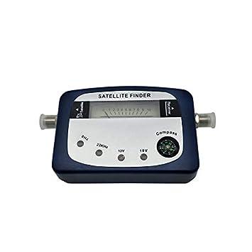 Pudincoco SF-07 Buscador de satélites Identificador de señal Receptor de satélite Receptor de TV Potencia del Sistema Medidor Detector Puntero con compás ...