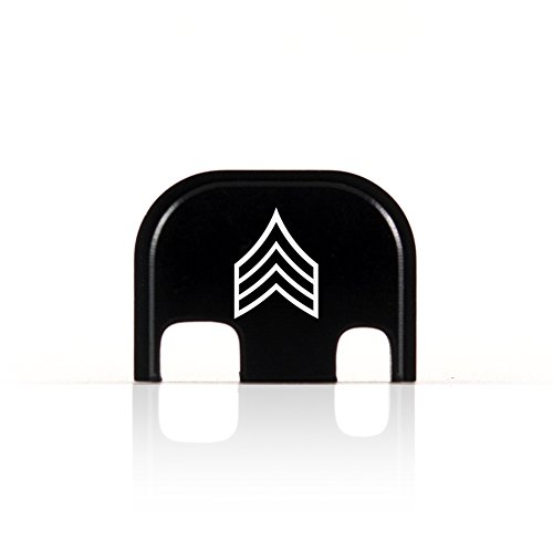 Slide Rank - E-5 Sergeant Rank Rear End Cover Back Slide Plate for Glock SGT OR-5 E5 US Army