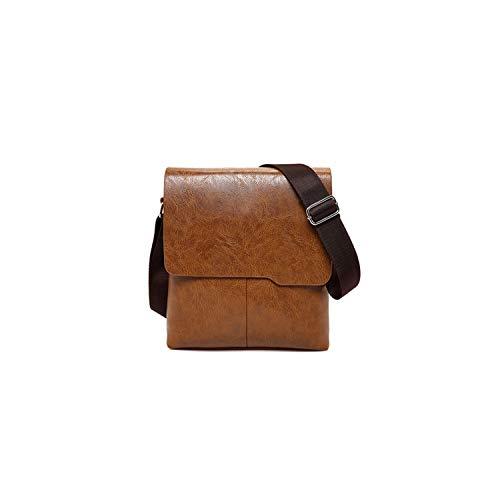 Man Messenger Bagpu Leather Shoulder Bags Business Crossbody Casual Bag,1505-1-Khaki ()