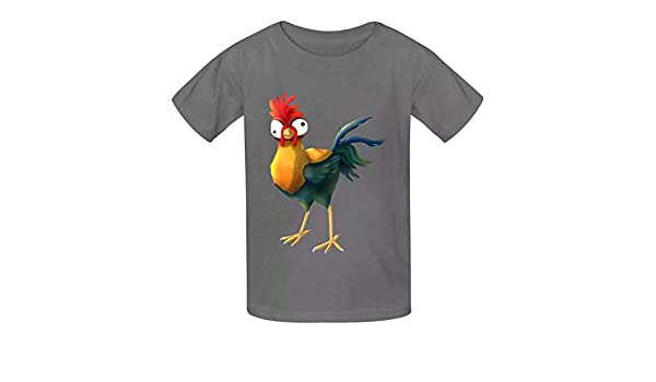 Della Graham Poultry Children and Adolescent 3D Printed Outdoor Short-Sleeved T-Shirt S Gray