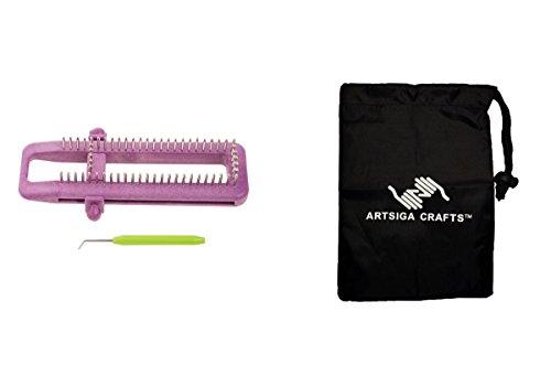 Darice Knitting Loom Sock 1 Pc 3X9.3in. (3 Pack) 30022872 bundled with 1 Artsiga Crafts Small Bag by Artsiga Crafts Knitting Needles & Tools