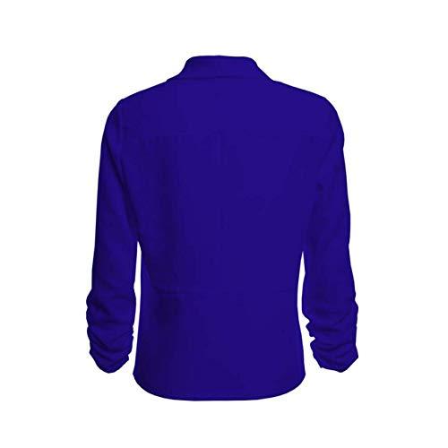 Sweat Travail Blazer Bleu Manches Front 3 Automne coloré Femmes Longues À De Ouvert Set Capuche Et Dames Xl Bureau Taille Costume Mode 4 Outwear Rayé Hiver Hauts qSxaOABS