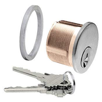- Stainless Steel Mortise Keyed Different Cylinder CRL Brushed