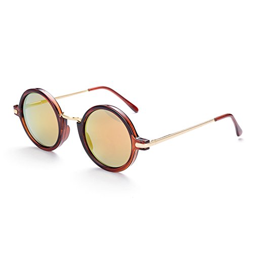 Naivo Women's YJMH071-2 London Underground Inspired Sleek Fire Opal Sunglasses, - Y Sunglasses London