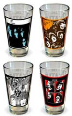 Beatles/Pint Glass Set Album Series One 4-Pack