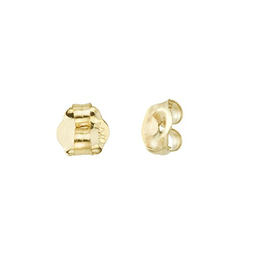 Carat 14k Yellow Gold Replacement Earring Backs (Pair) For Women (Yellow Gold 14k Replacement)