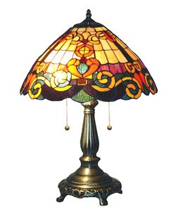 Tiffany Style Baroque Heart Table Lamp
