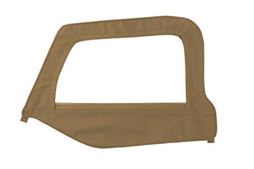 Smittybilt Door Skin (Smittybilt 89417 Black Diamond Driver Side OEM Replacement Soft Top Door Skin with)