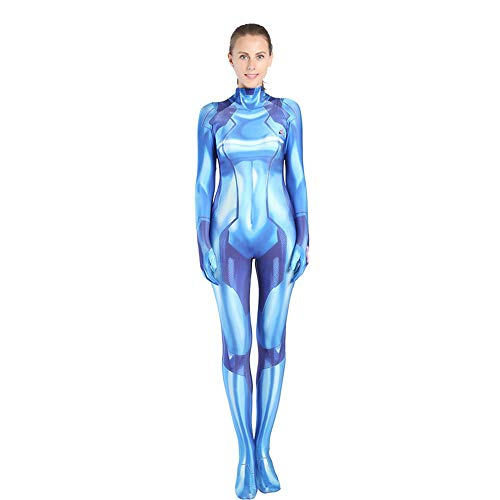Original Sub Zero Costume (JHDUID Halloween Christmas Performance Show Zero Suit Cosplay Costume Spiderman Costume Female Morph Costumes Bodysuit Jumpsuits Attire Movie)