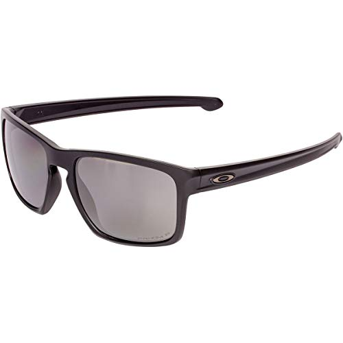 Oakley Men's OO9262 Sliver Rectangular Sunglasses, Matte Black/Prizm Black Polarized, 57 ()