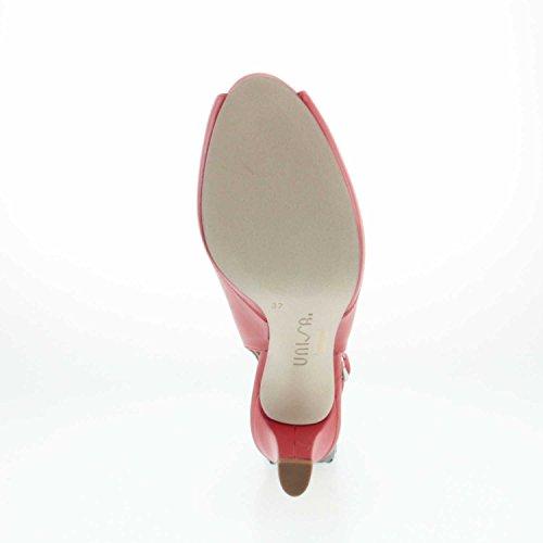 Unisa Nick_17 Red Napa Silk - Zapatos de vestir de Piel Lisa para mujer Rojo