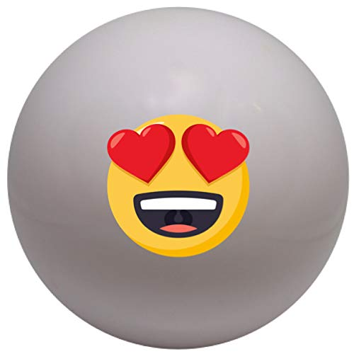 4Winners Single Heart Eyes Emojicon Field Hockey Ball Smooth (White) -