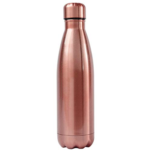 Karma Gifts Stainless Steel Water Bottle, Rose Gold
