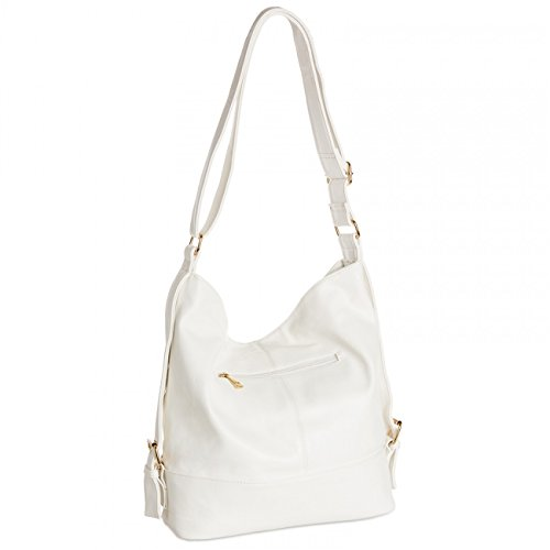 for Bag Shoulder TS732 Format Messenger Small CASPAR Womens A4 White Bag Cq1xWUSw