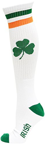 Ireland White Tube Socks