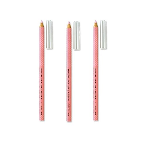 Bulk Buy: Clover Water Soluble Pencil Pink 5002 (3-Pack) Clover Needlecraft Inc.