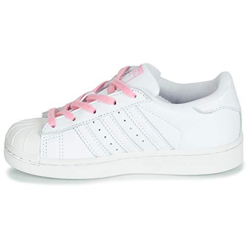De C Blanco ftwr Gimnasia ftwr Ftwr Pink Zapatillas Unisex light White Adidas Pink Superstar Niños White Fg5tnq