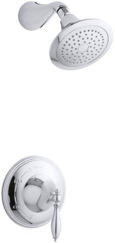 KOHLER K-T313-4M-CP Finial Traditional Rite-Temp Pressure-Balancing Shower Faucet Trim, Polished ()