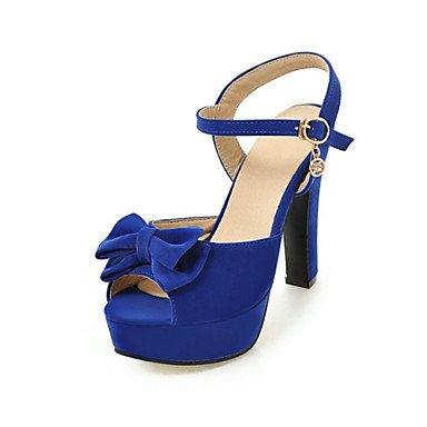 LvYuan Tacón Robusto-Innovador Confort-Sandalias-Informal Fiesta y Noche Vestido-Semicuero Materiales Personalizados-Negro Azul Rojo Beige Blue