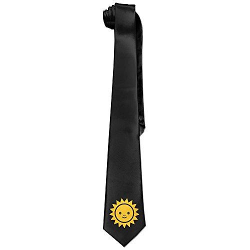 Little Miss Sunshine Costume (Ggift Emoji Sunshine Face Emoticon Men's Fashion Business Solid Necktie Neck Tie)