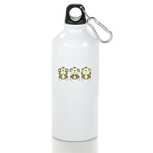 Cute Monkey See No Evil, Hear No Evil, Speak No Evil Water Bottle,Lightweight Aluminum Sports Water Bottle,Outdoor Sports Kettle (Centennial Lights Park Christmas)