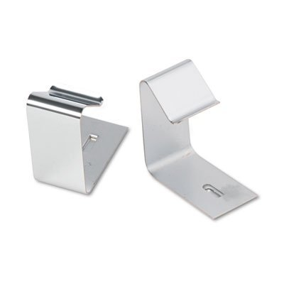 Flexible Metal Cubicle Hangers for 1 1/2 to 2 1/2in Panels, 2/Set, Sold as 2 Each by Quartet