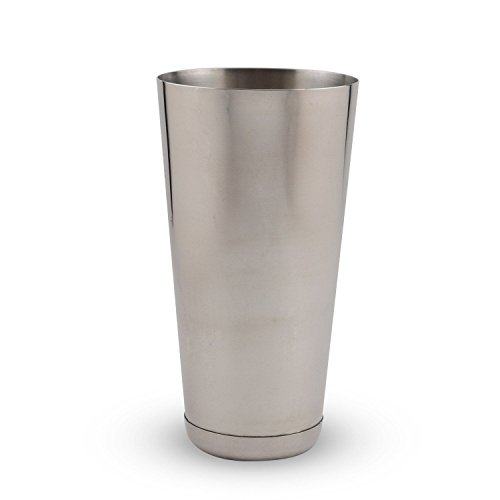 "Metal 30 Ounce Bar Cocktail Shaker Tins 10 Pack - Value Pack - Plus (1) Big KegWorks 12"" Wooden Muddler by KegWorks (Image #1)"