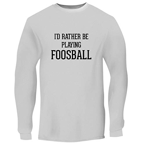 Voit Foosball - BH Cool Designs I'd Rather Be Playing Foosball - Men's Long Sleeve Graphic Tee, White, XXX-Large