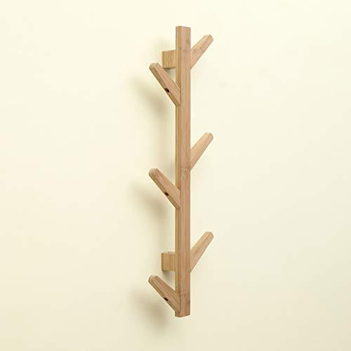 PEN-YIJIA Twig Coat Rack, Decorative Porch Wall Hanging Coat Rack, Bedroom Coat Hook, Bamboo Material, Stylish and Beautiful A