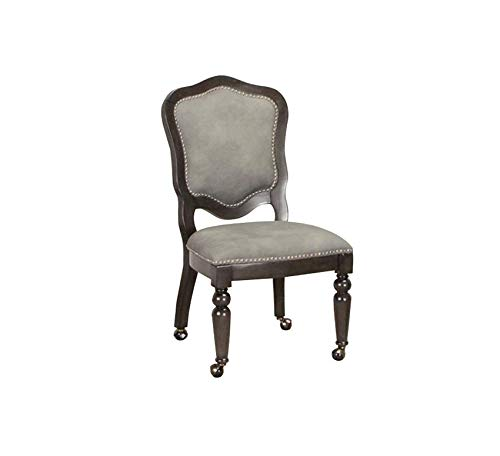 Wood & Style Furniture Vegas Game and Dining Chair, Gray/Black/Off-White Home Office Commerial Heavy Duty Strong Décor