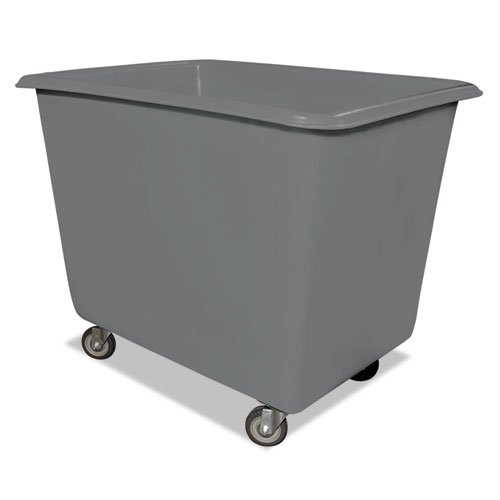 Royal Basket Trucks Poly Truck, 800 lb Capacity, Gray, Steel/Poly, 32 x 44 x 35 1/2 - Includes one truck.