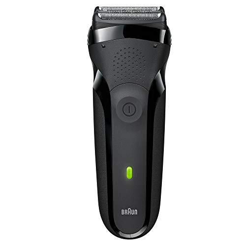Braun Electric Foil Shaver for Men, Cordless Electric Razor, Series 3 300s, 100% Waterproof, 2x Long Life Battery, 3 Pressure-Sensing Elements for Efficiency & Comfort, Sensitive Skin, Black (Braun Shaver Corded)