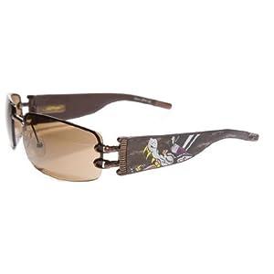 Ed Hardy Ehs-016 Love Boy Sunglasses - Latte/Brown