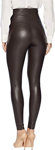 commando Women's Perfect Control Faux Leather Leggings SLG06 Espresso Large by commando (Image #2)