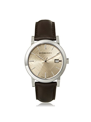 Burberry Fawn Dial Brown Leather Mens Watch - Mens Burberry Trench