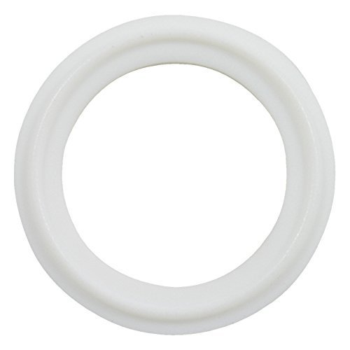 Clamp Gasket (6 pcs Brewery Gaskets Brand White PTFE (Teflon) Tri-Clamp Gasket - 2