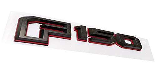 1x 2015-2018 F150 Rear Tailgate Emblem Badge 3D Nameplate Replacement for F-150 FL3Z-9942528-C (Black-Red)]()
