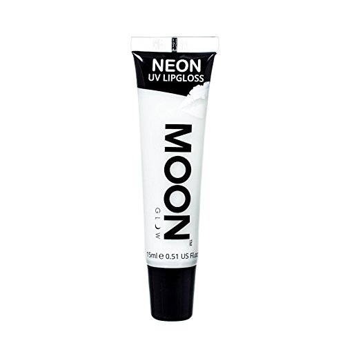 Moon Glow - Blacklight Neon Lip Gloss – 0.5oz Vanilla White – Scented and glows brightly under UV / Blacklight!