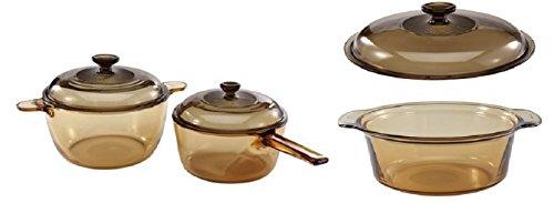 Visions 6 Piece Bundle: 2.5 L Round Stew - 4 Piece Sauce Pan Set Shopping Results