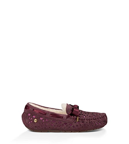 UGG Women's Dakota Flora Perf Port Water Resistant Suede Slipper 7 B (M) by UGG