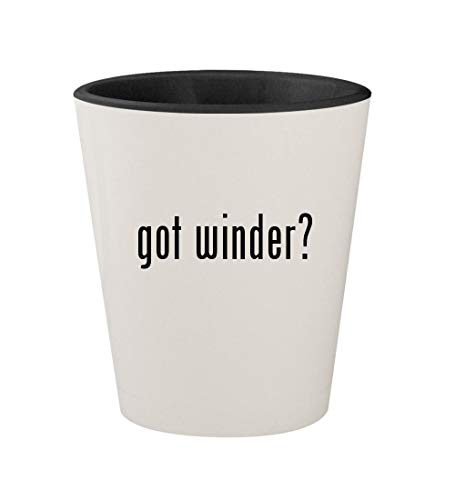 got winder? - Ceramic White Outer & Black Inner 1.5oz Shot Glass -