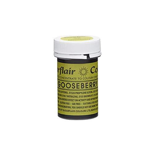 Sugarflair Gooseberry Concentrate Paste Colour 25g Edible