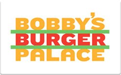 Bobby's Burger Palace Gift Card - In Stores Pa Grove City