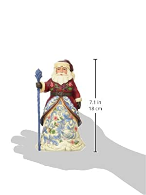 Jim Shore Christmas Heartwood Creek from Enesco German Santa Figurine 6.75 IN